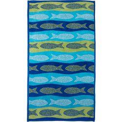 Tropix Polka Dot Fish Beach Towel