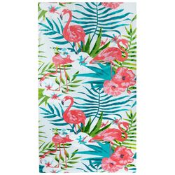 Coastal Home Flamingos  Beach Towel