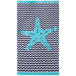Coastal Home Coastal Chevron Beach Towel