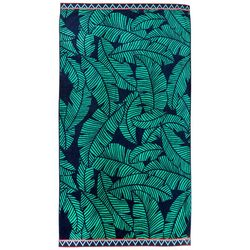 Coastal Home Tropical Leaves Beach Towel