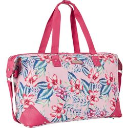 Nine West 24'' Now Arriving Pink Aloha Weekender Bag