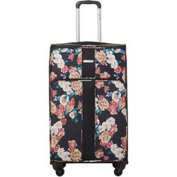 Nine West 28'' Now Arriving Black Floral Spinner Luggage