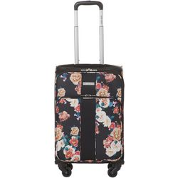 Nine West 20'' Now Arriving Black Floral Spinner Luggage