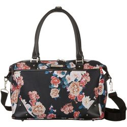 Nine West 24'' Now Arriving Black Floral Weekender Bag