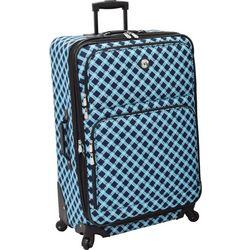 Leisure Luggage 29'' Lafayette Navy Lattice Spinner Luggage