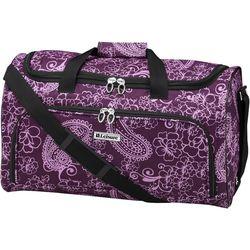 Leisure Luggage 20'' Lafayette Purple Paisley Duffel Bag