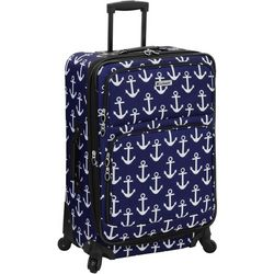Leisure Luggage 25'' Lafayette Navy Anchor Spinner Luggage