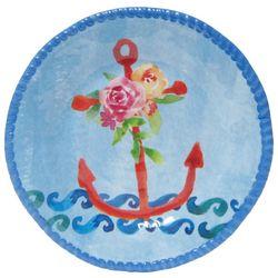 Tropix Coastal Tidings Anchor Appetizer Plate