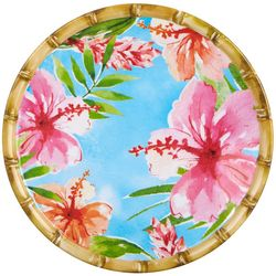 Tropix Island Time Blue Salad Plate
