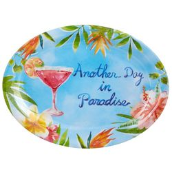 Tropix Island Time Day In Paradise Oval Serving Tray