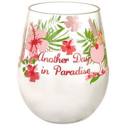 Tropix 19 oz. Island Time Paradise Stemless Wine Glass