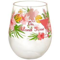 Tropix 19 oz. Island Time Stemless Wine Glass