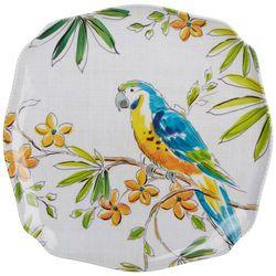 Tropix Orchid Island Blue Parrot Appetizer Plate