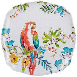 Tropix Orchid Island Red Parrot Appetizer Plate