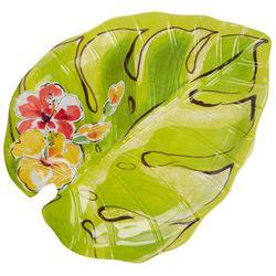Tropix Orchid Island Leaf Platter