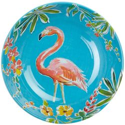 Tropix Orchid Island Flamingo Floral Serving Bowl