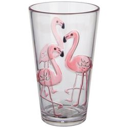 Tropix 23 oz. Orchid Island Flamingo Highball Glass