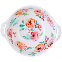 Coastal Home Blush Floral Serving Bowl With Handles