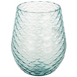Tropix 19 oz. Mermaid Wishes Scales Stemless Wine Goblet