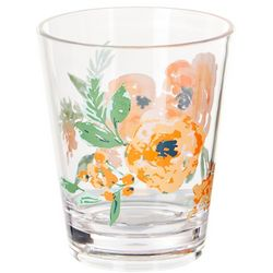 Coastal Home 14 oz. Blush Floral Double Old Fashioned Glass