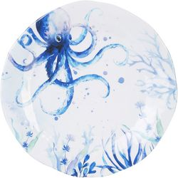 Coastal Home Indigo Sea Life Dinner Plate