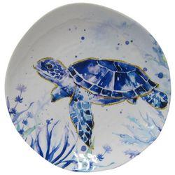 Coastal Home Indigo Sea Life Sea Turtle Appetizer Plate