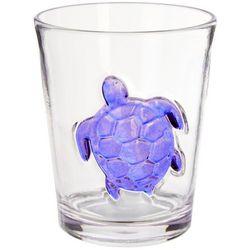 Coastal Home 14 oz. Indigo Sea Life Turtle DOF Glass