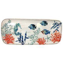 Coastal Home Coral Reef Oblong Platter
