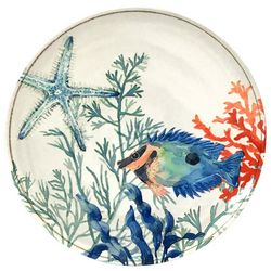 Coastal Home Coral Reef Starfish Appetizer Plate