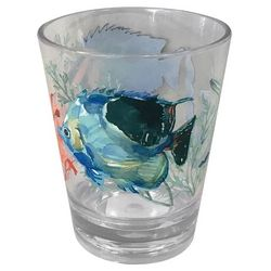 Coastal Home 14 oz. Coral Reef Double Old Fashioned Glass
