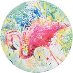 Tropix Splash Flamingo Dinner Plate