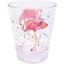 Tropix 14 oz. Splash Flamingo Double Old Fashioned Glass