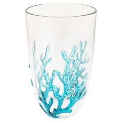 Tropix 20 oz. Coral Embossed Highball Glass