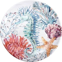Coastal Home Fall Sealife Dinner Plate