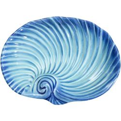 Coastal Home Fall Sealife Snail Shell Serving Platter