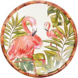 Coastal Home Flamingo Dinner Plate