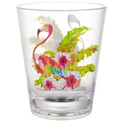 Ellen Negley 14 oz. Flamingo Double Old Fashioned Glass