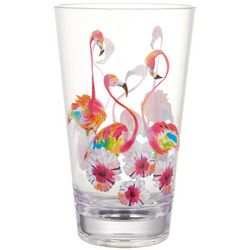 Ellen Negley 19 oz. Flamingo High Ball Glass