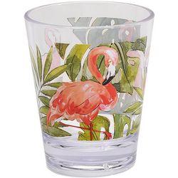 Coastal Home 14 oz. Flamingo Double Old Fashioned Glass