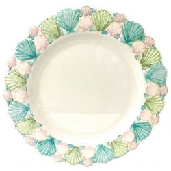 Coastal Home Embossed Shells Dinner Plate