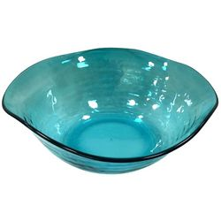 Coastal Home Embossed Shells Large Wavy Bowl