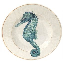Coastal Home Sea Life Seahorse Salad Plate