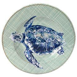 Coastal Home Sea Life Sea Turtle Salad Plate