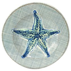 Coastal Home Sea Life Starfish Salad Plate