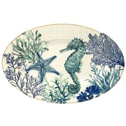 Coastal Home Sea Life Oval Platter