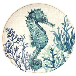 Coastal Home Sea Life Seahorse Appetizer Plate
