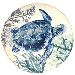 Coastal Home Sea Life Sea Turtle Appetizer Plate