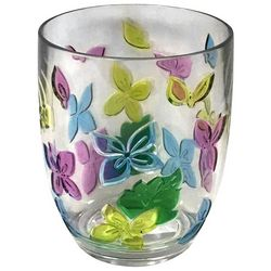 Coastal Home 14 oz. Butterfly Etched DOF Glass
