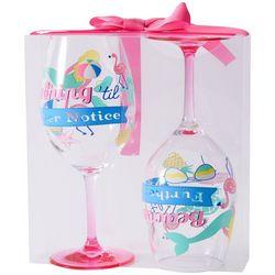 Tropix 2-pc. Beaching Wine Goblet Set