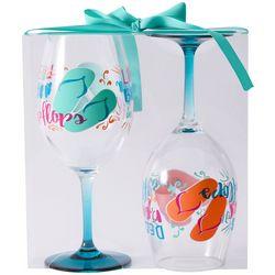 Tropix 2-pc. Flip Flops Wine Goblet Set